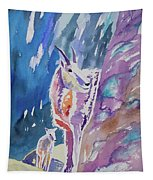 Watercolor - Mountain Goat With Young Tapestry