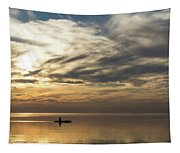 Watercolor Paddle - Kayaking Through A Glorious Silken Morning Tapestry