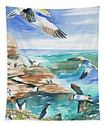 Watercolor - Seabirds Of The North Atlantic Tapestry