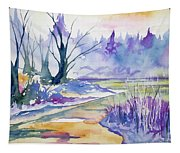 Watercolor - Stream And Forest Tapestry