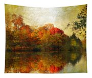 Watercolor Sunset Tapestry