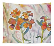 Watercolor - Wallflower Wildflowers Tapestry