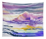 Watercolor - Winter Arctic Impression Tapestry