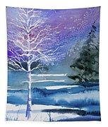 Watercolor - Winter Aspen Tapestry