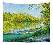 Watercolors At The Lake Tapestry