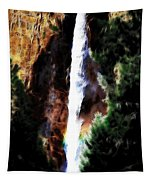 Waterfall At Yosemite Tapestry