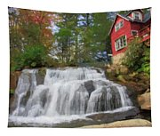 Waterfall Painting Tapestry