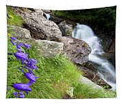 Waterfalls And Bluebells Tapestry