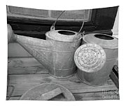Watering Cans And Tubs B  W Tapestry