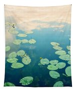 Waterlilies Home Tapestry by Priska Wettstein