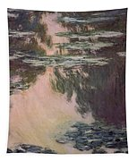Waterlilies With Weeping Willows Tapestry by Claude Monet