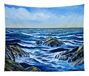 Waves And Foam Tapestry