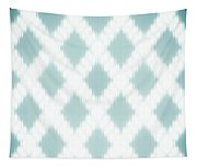 Wavy Light Teal Braids Tapestry