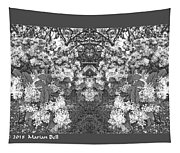 Waxleaf Privet Blooms In Black And White Abstract Poster Tapestry