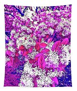 Waxleaf Privet Blooms On A Sunny Day With Magenta Hue Tapestry