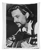 Waylon Jennings 1971 Signed Tapestry
