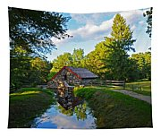 Wayside Inn Grist Mill Reflection Tapestry