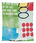 We Come To Worship- Contemporary Christmas Card By Linda Woods Tapestry