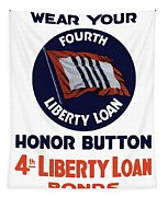 Wear Your Honor Button Tapestry