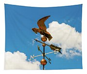 Weather Vane On Blue Sky Tapestry