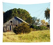 Weathered Barn In Fall Tapestry