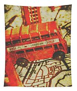 Weathered Bus Routes Tapestry