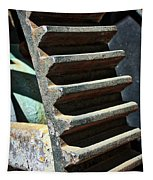 Weathered Metal Cogs Tapestry