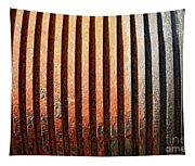 Weathered Metal With Rows Tapestry