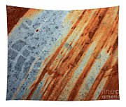 Weathered Metal With Stripes Tapestry