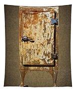 Weathered Rusty Refrigerator Tapestry