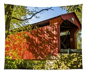 Webster/dick Huffman Covered Bridgesw Of Putnamville, Washingto Tapestry