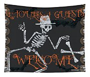 Welcome Ghoulish Guests Tapestry