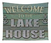 Welcome Lake House Tapestry