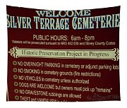 Welcome Silver Terrace Cemeteries Tapestry