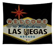 Welcome To Vegas Knights Sign Digital Drawing Tapestry