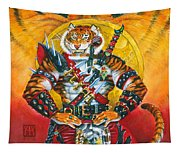 Werecat Warrior Tapestry