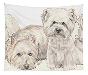 West Highland White Terrier Puppies Tapestry