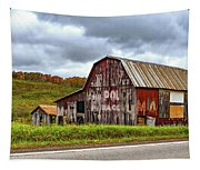 West Virginia Barn Tapestry