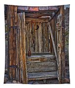 Western Outhouse Tapestry