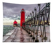 Wet At Grand Haven Tapestry