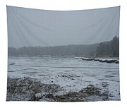 Weymouth Back River In A Snow Storm Tapestry