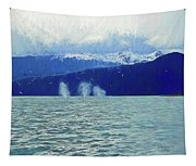 Whales Blowing Tapestry