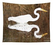 What The Egret Caught Tapestry