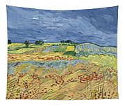 Wheat Field With Stormy Sky Tapestry