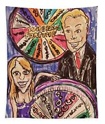 Wheel Of Fortune Pat Sajak And Vanna White Tapestry