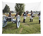 Wheeling The Cannon At Fort Mchenry In Baltimore Maryland Tapestry