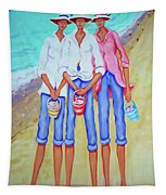 Whimsical Beach Women - The Treasure Hunters Tapestry