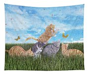 Whimsical Cats Tapestry