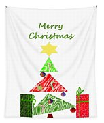 Whimsical Christmas Tree Tapestry