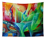 Whimsical Mood-landscape And Fields Tapestry